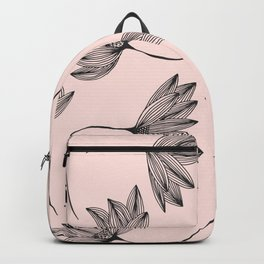 Pink Retro Floral Pattern - Mix and Match with Simplicity of Life Backpack