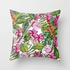Tropical Garden 3 Throw Pillow