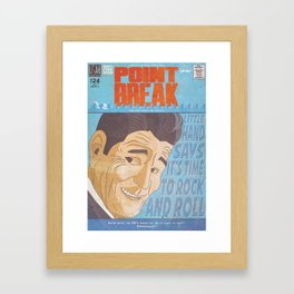 Point Break Comic Style Print Framed Art Print
