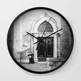 Street musician in Venice Italy Wall Clock