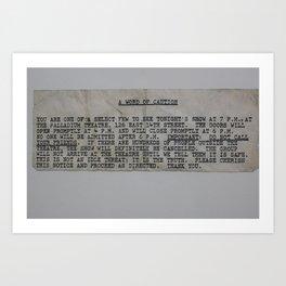 Rolling Stones Ticket Advice 3 Art Print