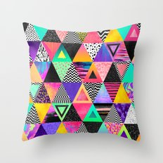 Quirky Triangles Throw Pillow