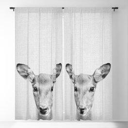 Doe 2 - Black & White Blackout Curtain