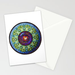 Red Iris Eyball Jewel Stationery Cards