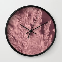 Red reed Wall Clock