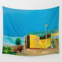 jamaica Wall Tapestries featuring Jamaica. Jamaican Blues by ANoelleJay