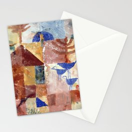 Paul Klee - Landscape with Bluebirds Stationery Cards