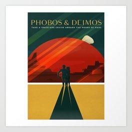 Phobos Deimos Art Print