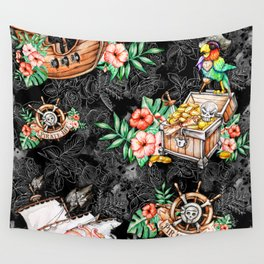 Pirate #5 Wall Tapestry