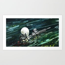Water Recon Art Print