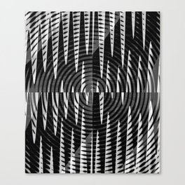 Black & White Waves Canvas Print