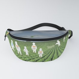 Green Rows Fanny Pack