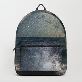 Milky Way Over The Sea Backpack