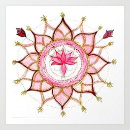 Lotus pink buds Art Print