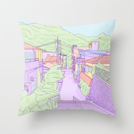 Another everyday place in Japan Throw Pillow