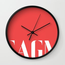 Graphic arts gallery of melbourne (GAGM) GIANT print  Wall Clock