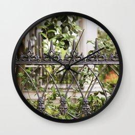 New Orleans Lush Garden Wall Clock