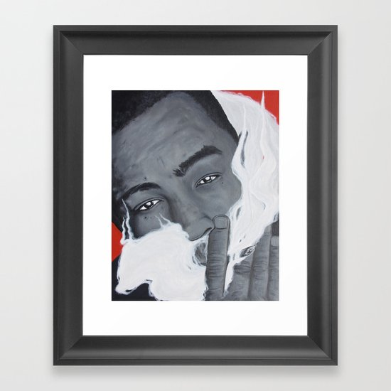 Bay Area Rap Artist The Jacka Smoking Framed Art Print