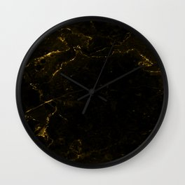Black Gold Marble Wall Clock