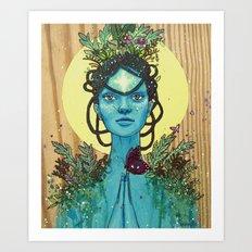 Meditation on Mother Nature Art Print