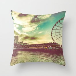 Seattle Pike Place Market Pier 57 Throw Pillow