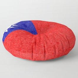 Taiwan flag Floor Pillow