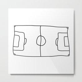 Football in Lines Metal Print