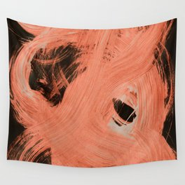 Fuzzy, Abstract, Orange Flamengo Wall Tapestry