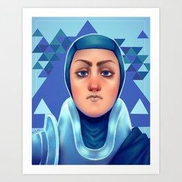 Police Princess Art Print
