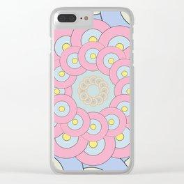 Simple Mandala Clear iPhone Case