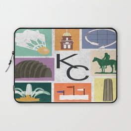 Kansas City Landmark Print Laptop Sleeve
