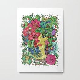 Mina beautiful mandala Metal Print