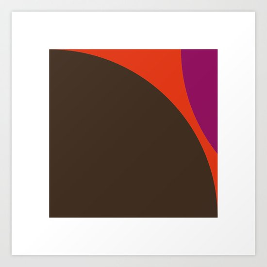 #422 Lava – Geometry Daily Art Print