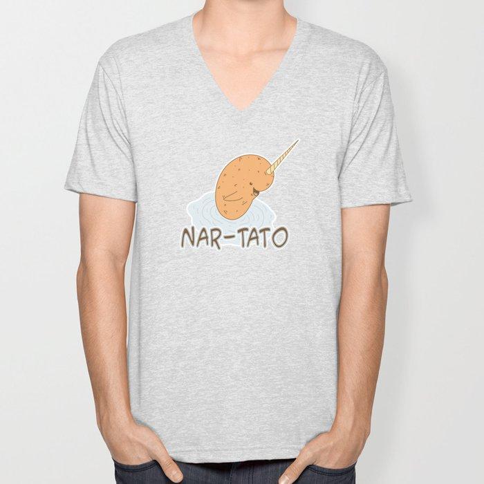 NAR-TATO- Narwhal Meets Potato Unisex V-Neck