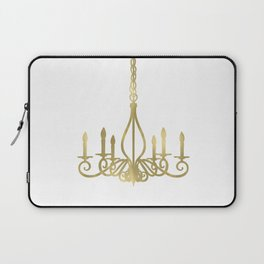 Gold Glam Chic Chandelier Laptop Sleeve