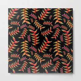 Heliconia Floral Print Metal Print