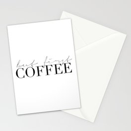 COFFEE BAR DECOR, Coffee Kitchen Decor,Modern Kitchen Art,Modern Print,Coffee Sign,Morning Quote,Ins Stationery Cards