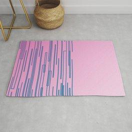 ethnic design lines on pink Rug