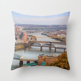 Monongahela River - Pittsburgh, Pennsylvania Throw Pillow