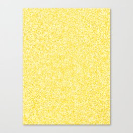 Spacey Melange - White and Gold Yellow Canvas Print