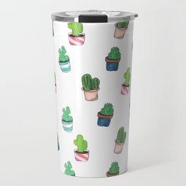 Cacti Abound Watercolor Graphic Print Travel Mug