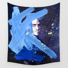 Blue Explosion Wall Tapestry