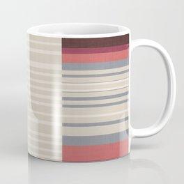 Bauhaus Stripe in Red Multi Coffee Mug