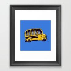 Off to School Framed Art Print