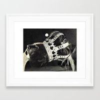king Framed Art Prints featuring king by Hugo Barros