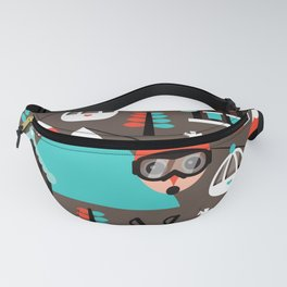 Winter Wonderland retro ski fox Fanny Pack