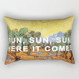 Here Comes the Yellow Sky and Sun Rectangular Pillow