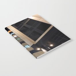 modern architecture - city at night - bond court leeds Notebook