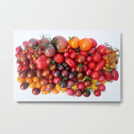TOMATOES ARE RED Metal Print