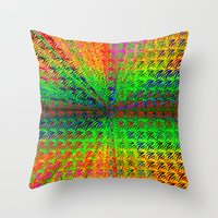 psychedelic Throw Pillows featuring Psychedelic by Debbie Clayton